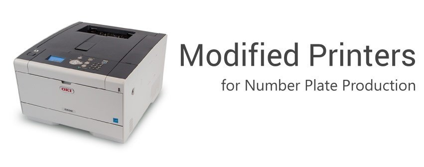Modified Printers for Number Plate Printing