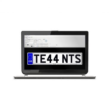 LG Plates Software on a Laptop