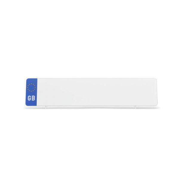 lg001wgb White Oblong GB Plate