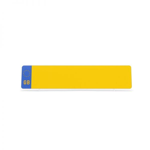 lg001ygb Yellow Oblong GB Plate