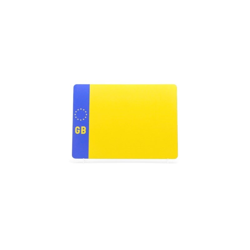 lg002ygb Yellow 4by4 GB Plate