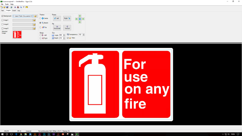 Safety signs design using LG Signs Software