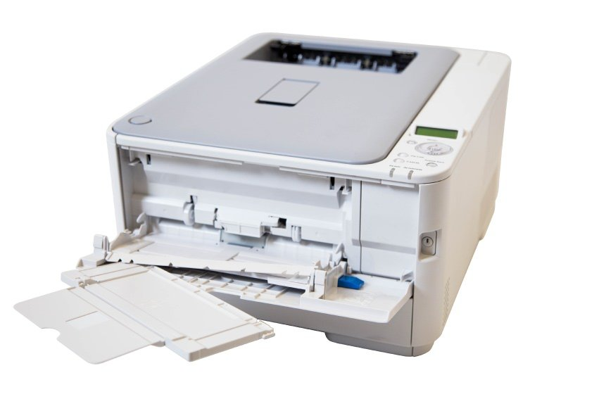 Removing a paper tray on a OKI printer