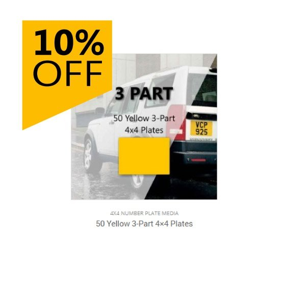 10% Off 50 Plate Bundles