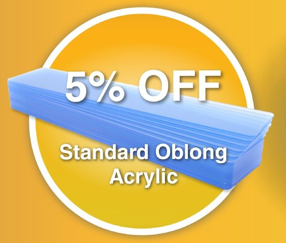 Oblong Acrylic June offer