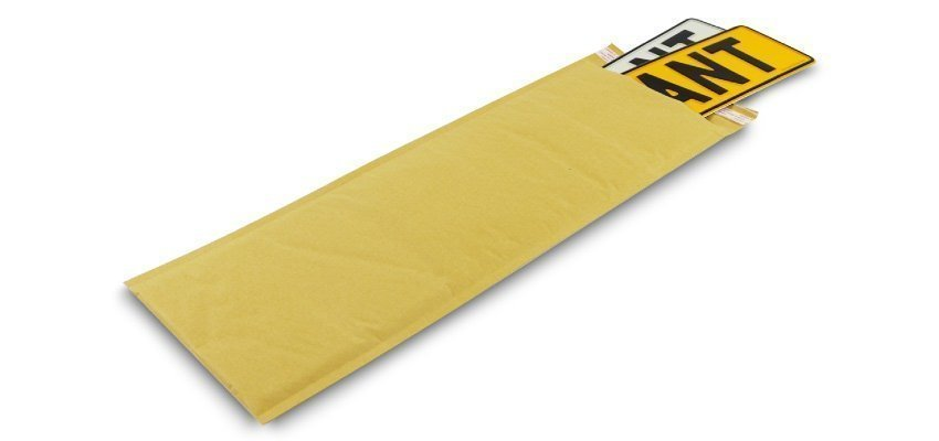530x200mm Padded Envelopes with Number Plates