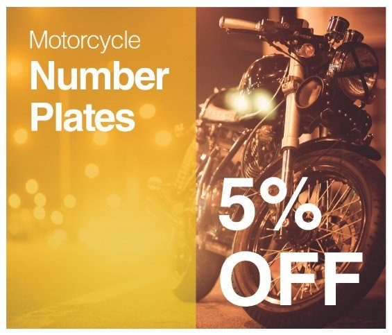 Motorcycle Plates Offer