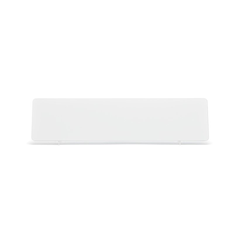 White 520x127mm Plate