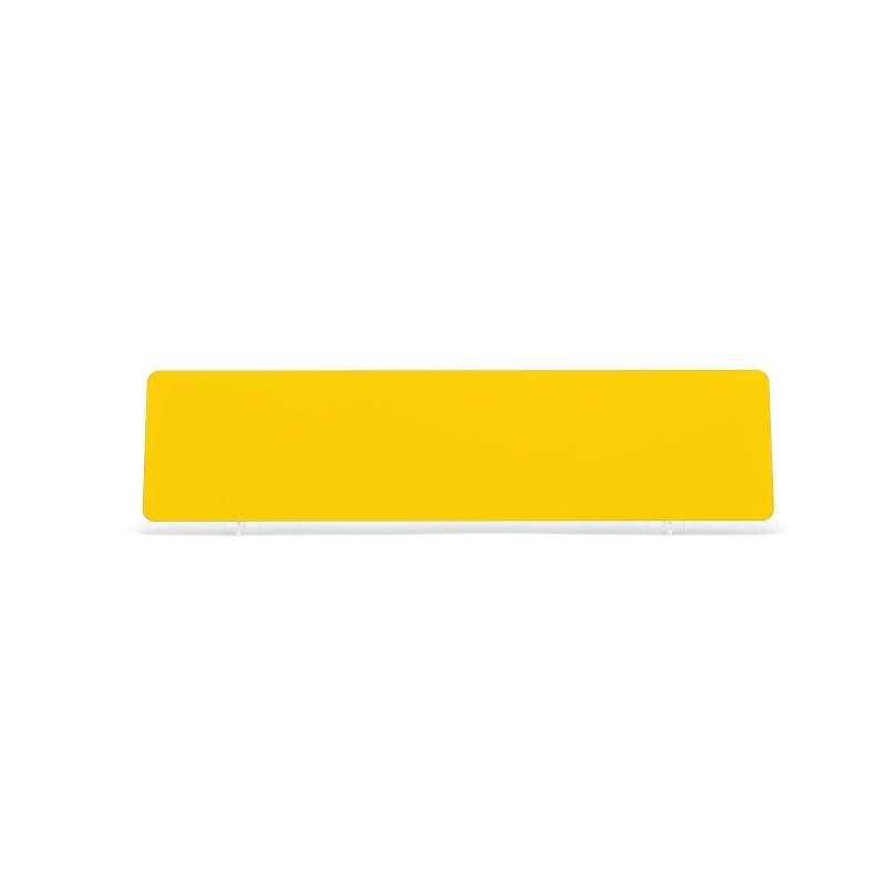 Yellow 520x127mm Plate