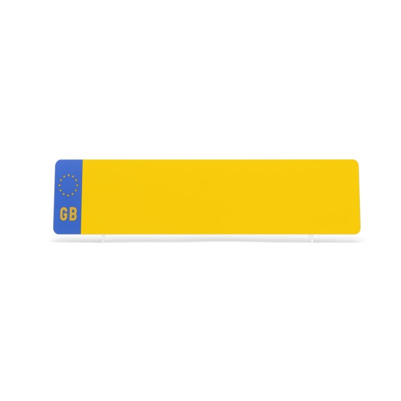 Yellow 533x152mm GB Plate