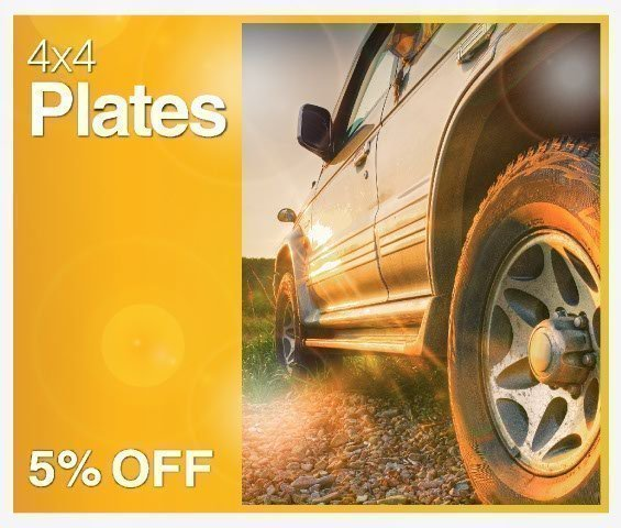 4x4 Plates Offer