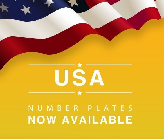 Now available american import number plate sizes
