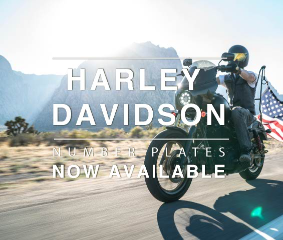 Now available Harley Davidson number plate sizes
