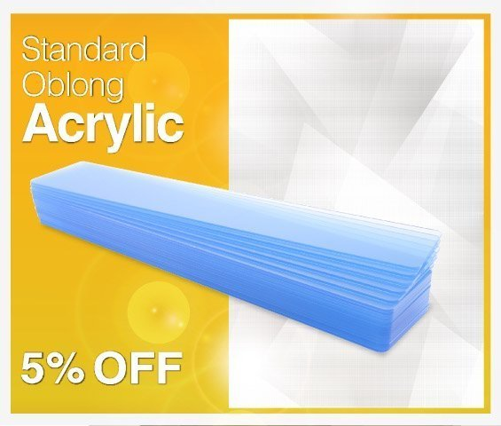 Oblong Acrylic Face Offer