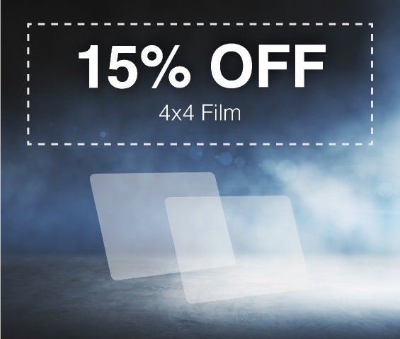 September 4x4 Clear Film Sale