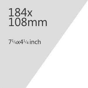 184x108mm Plate Media