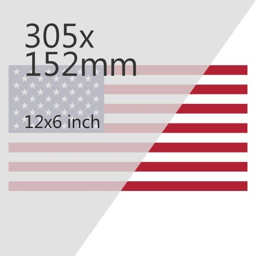 American Import 305x152mm Plate Media