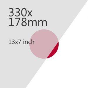 330x178mm Plate Media