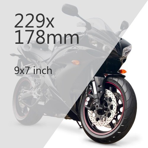 Motorcycle 229x178mm Plate Media