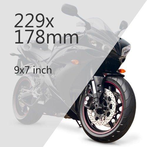 Motorcycle 229x178mm Plate Media