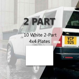 10 White 2-Part 4x4 Plates