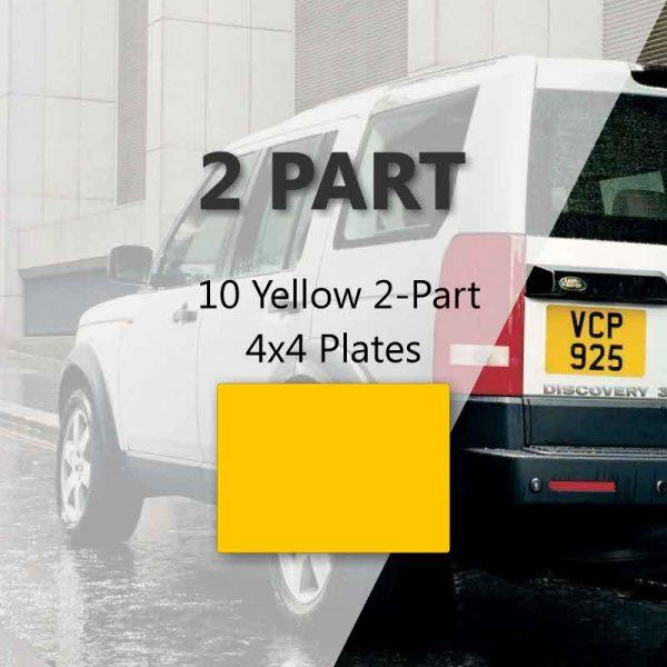 10 Yellow 2-Part 4x4 Plates