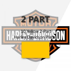 10 Yellow 2-Part Harley Davidson Plates