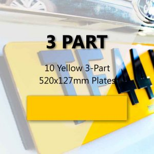 10 Yellow 3-Part 520x127mm Plates