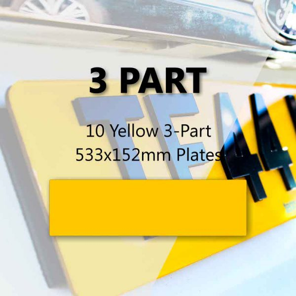 10 Yellow 3-Part 533x152mm Plates