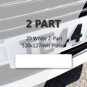 20 White 2-Part 520x127mm Plates