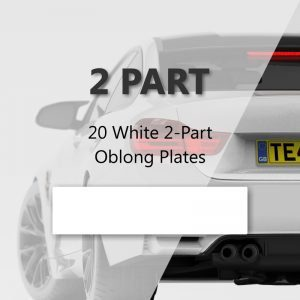 20 White 2-Part Oblong Plates