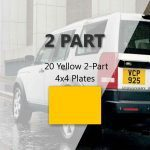 20 Yellow 2-Part 4×4 Plates