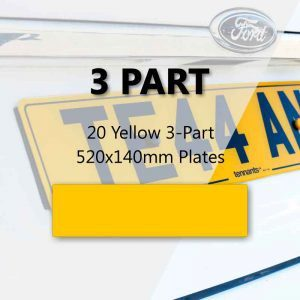 20 Yellow 3-Part 520x140mm Plates