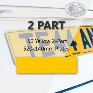 50 Yellow 2-Part 520x140mm Plates