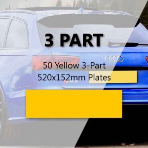 50 Yellow 3-Part 520x152mm Plates