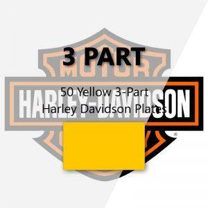 50 Yellow 3-Part Harley Davidson Plates