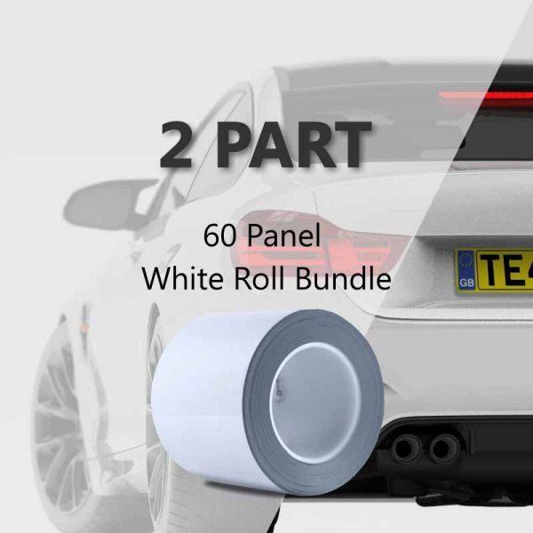 60 Panel White Roll Bundle