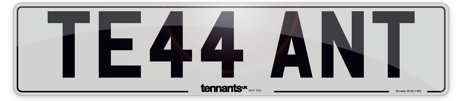 A white Standard Number Plate