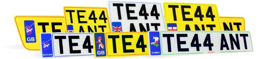A selection of Hybrid Number Plates