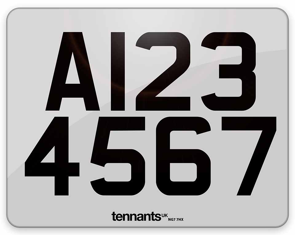 Example white Trailer Plate