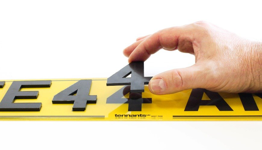 Align digit with the printed registration