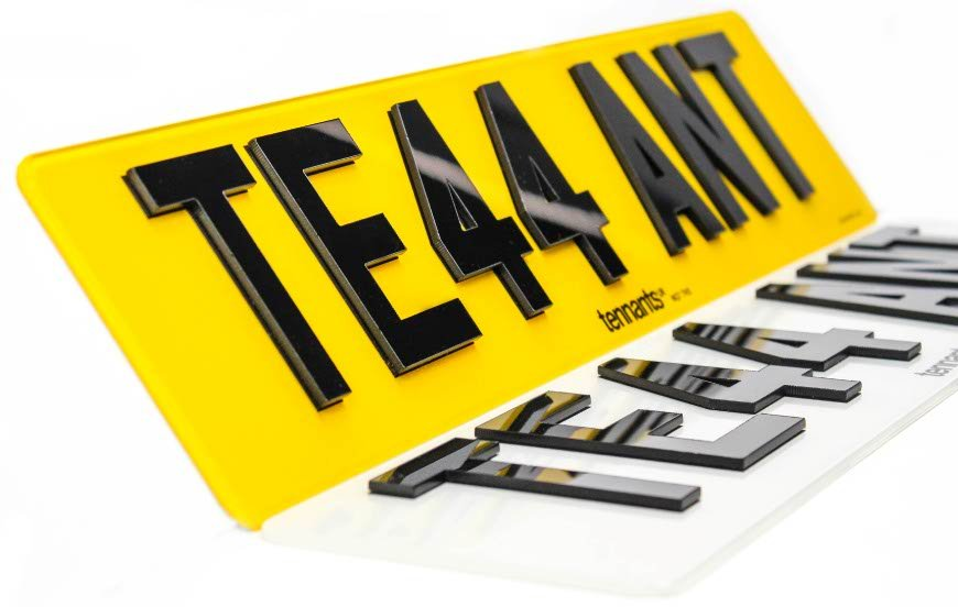 A Pair of finished True 3D Number Plates