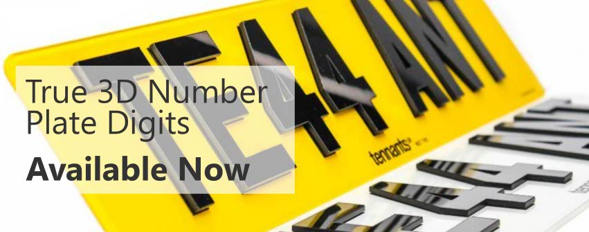 Tennants True 3D Number Plate Digits are now available online