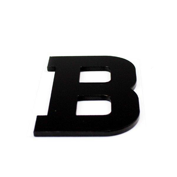 True 3D Letter B