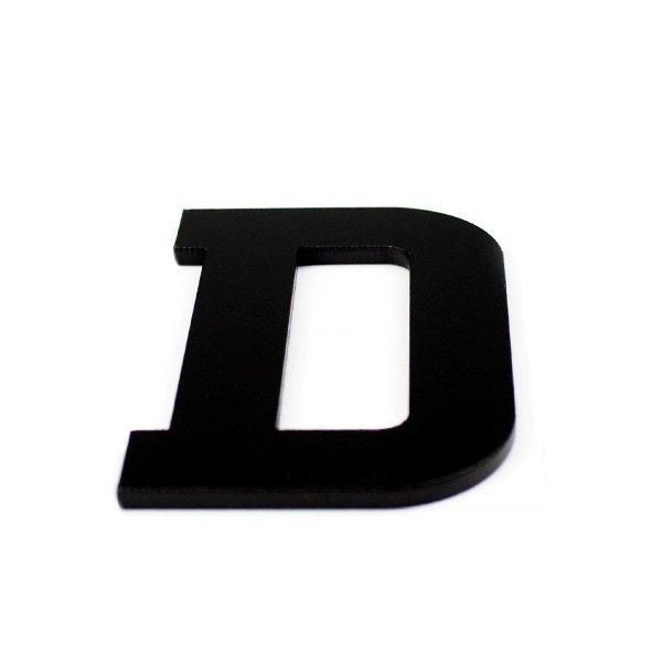 True 3D Letter D