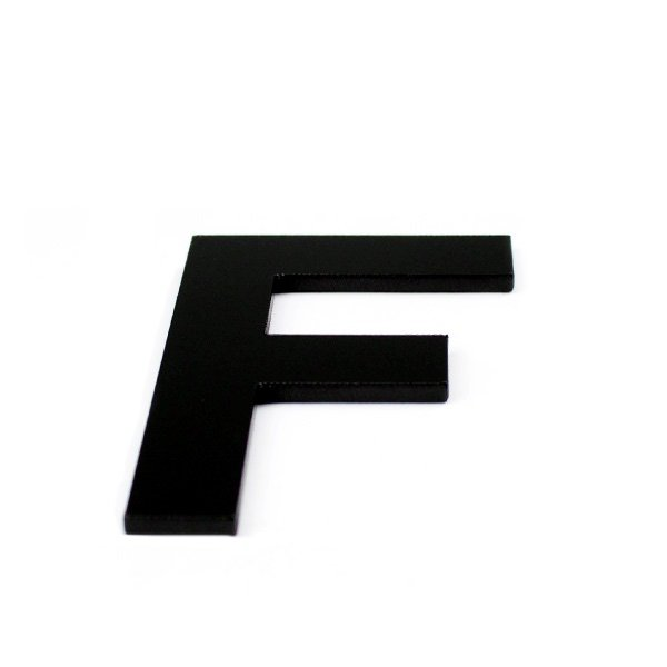 True 3D Letter F