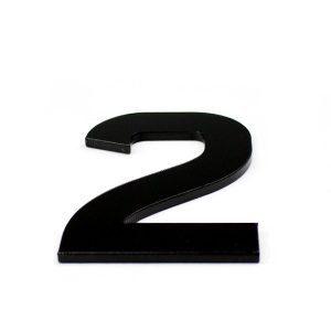 True 3D Number 2