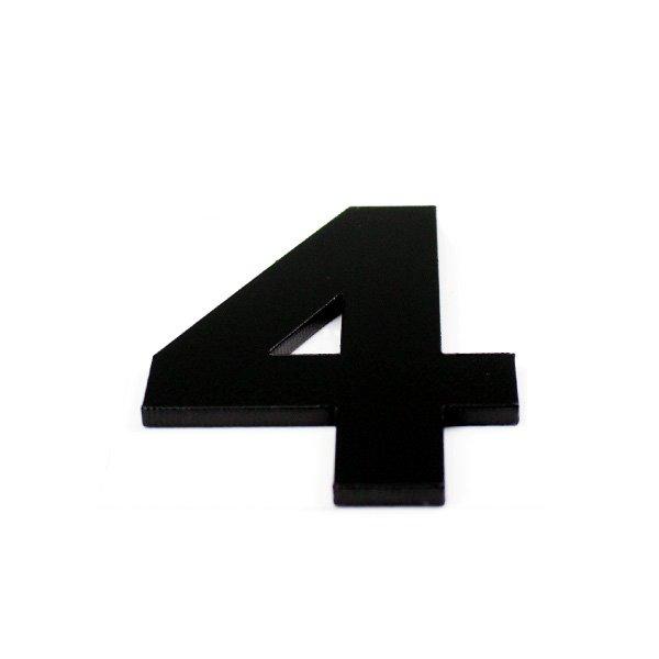True 3D Number 4