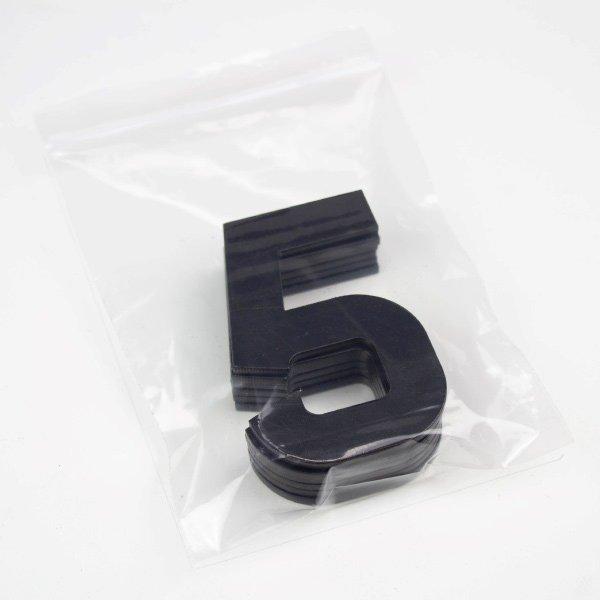 True 3D Number 5 Digits