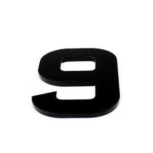 True 3D Number 9